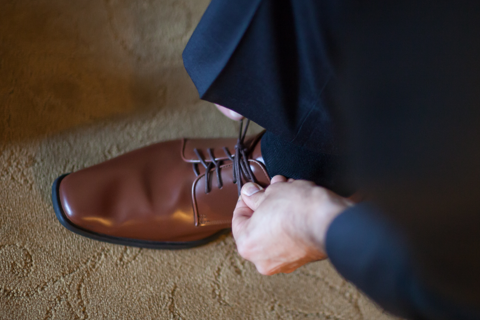 Groom Brown Leather Shoes
