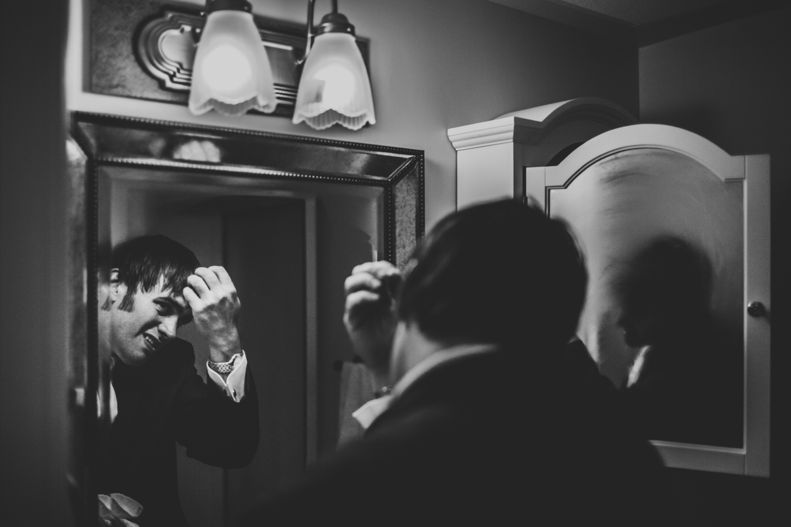 Creative Groom Getting Ready Photos