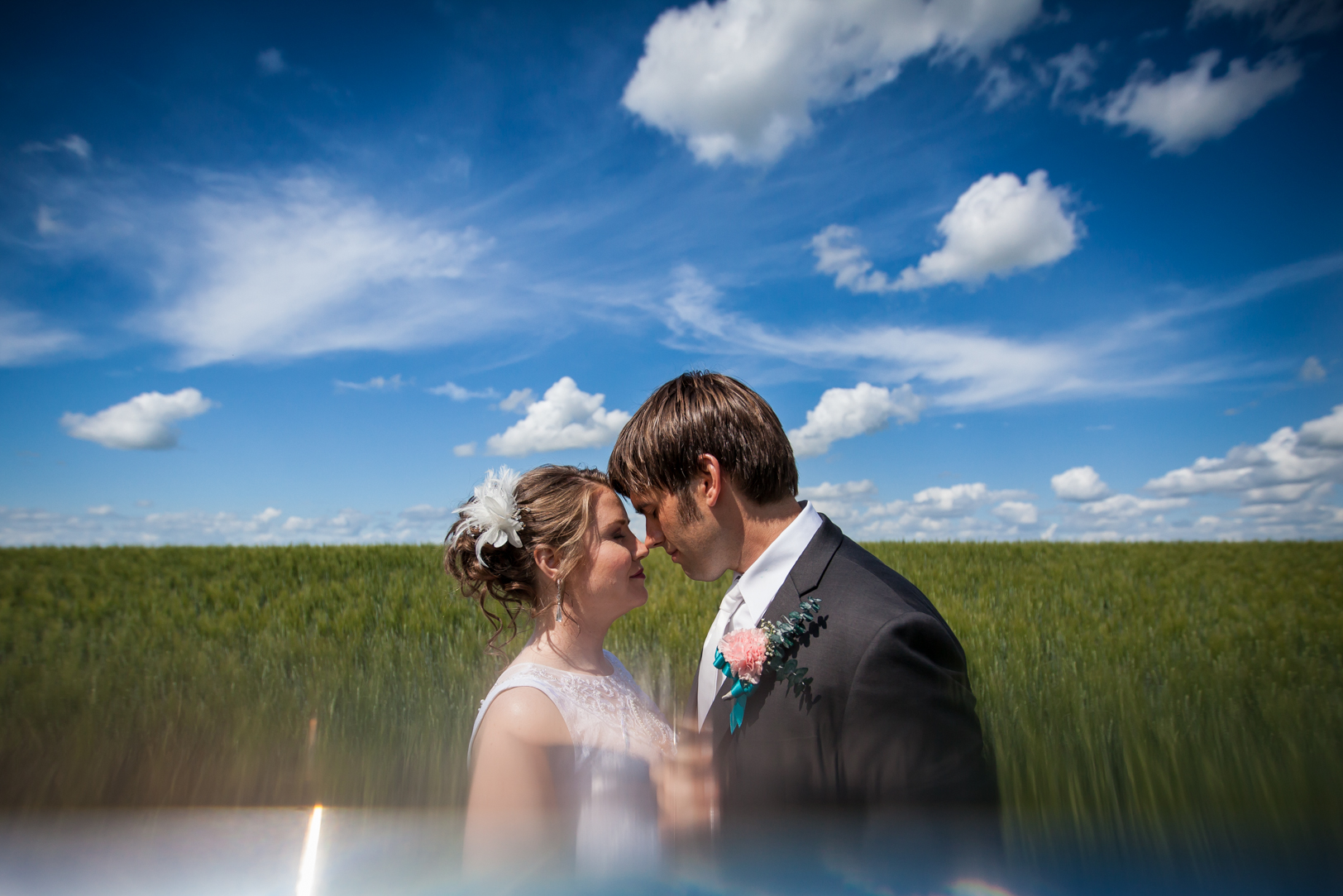 Wedding Photos in Wheat Field