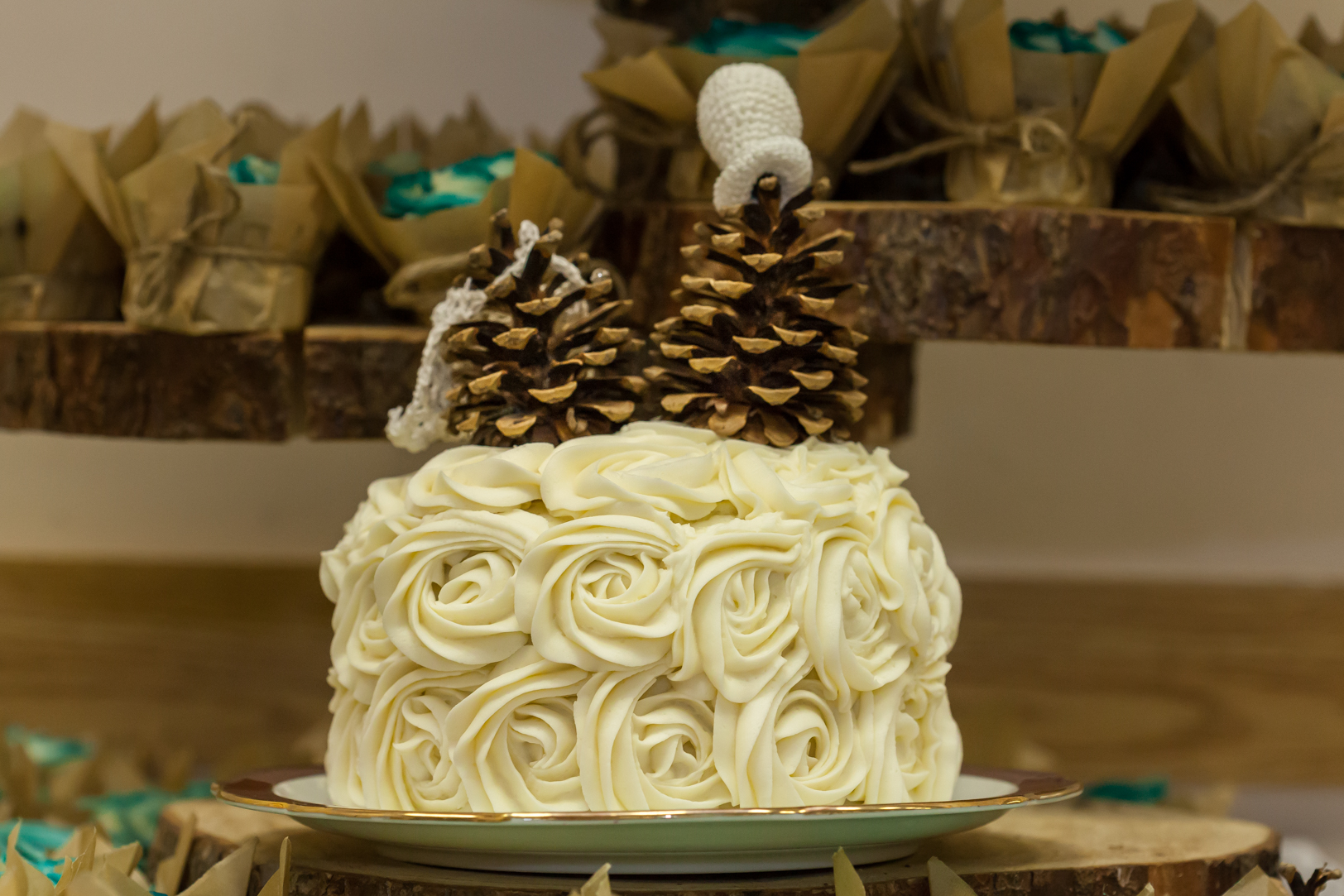 Pine Cone Cake Toppers