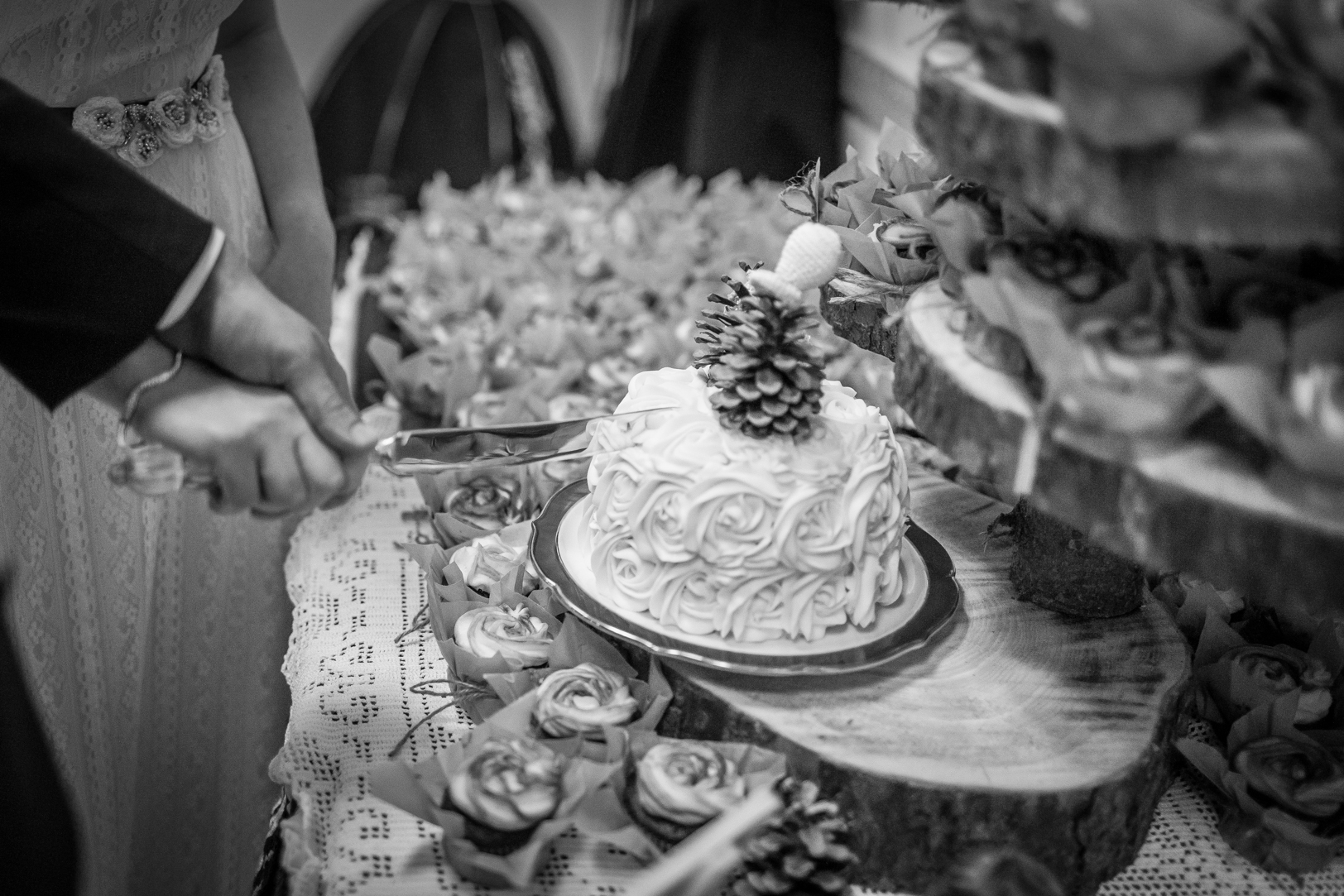 Photo of Couple Cutting the Cake