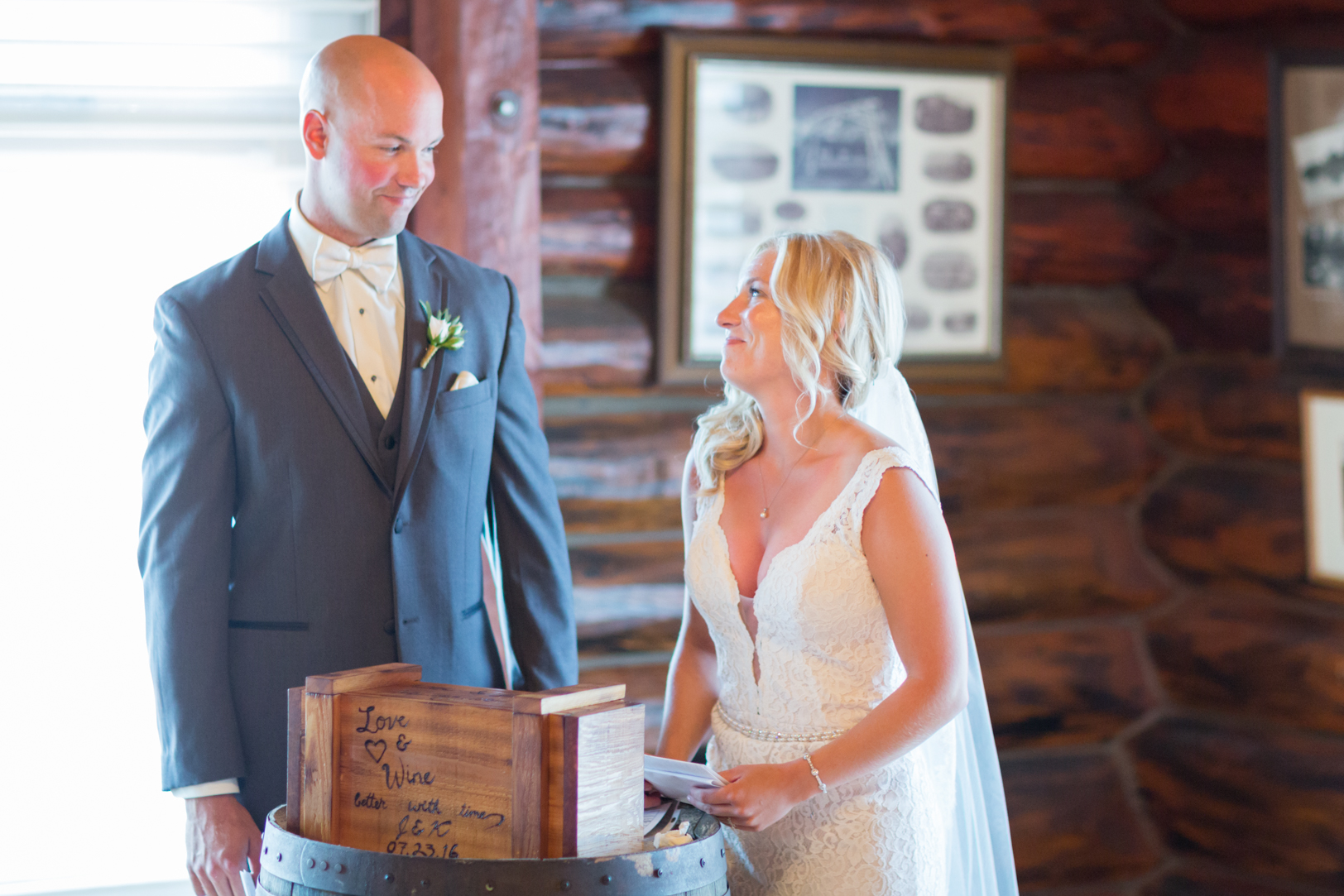 Wine Box Wedding Ceremony