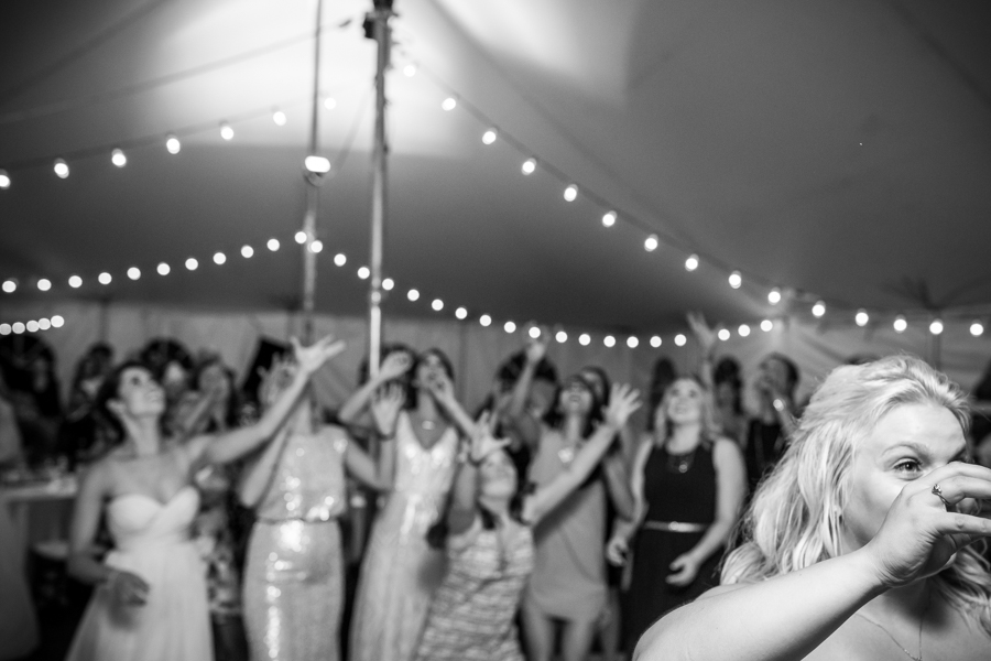 Barrhead wedding reception. Bouquet toss
