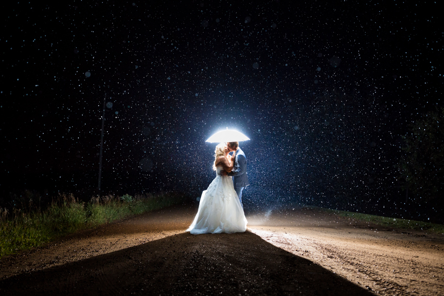 Raining Wedding Picture.