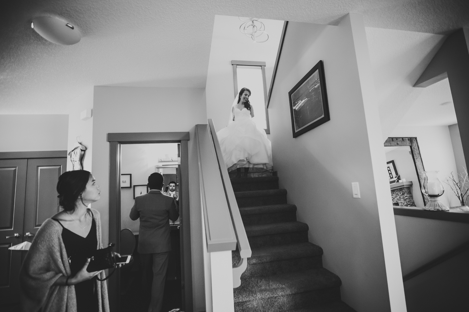 Bridesmaids and Bride Getting Ready