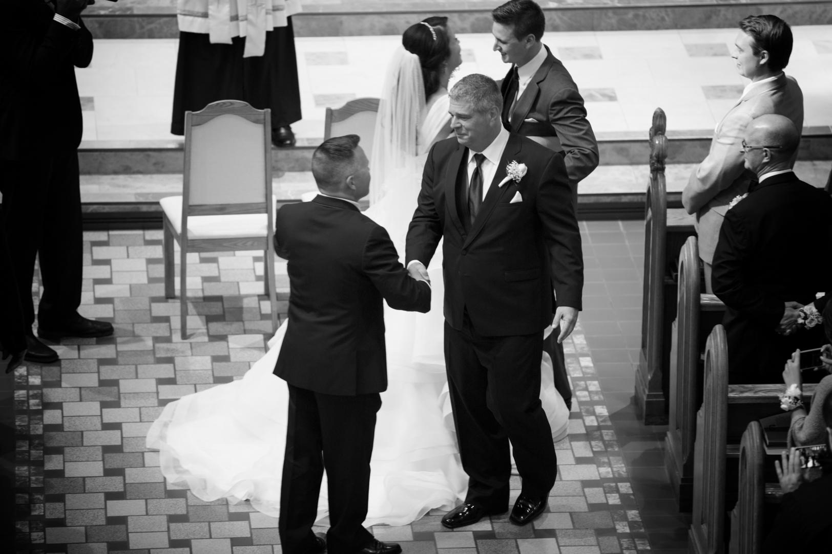 Elegant Edmonton Basilica Wedding - Father Stepfather.