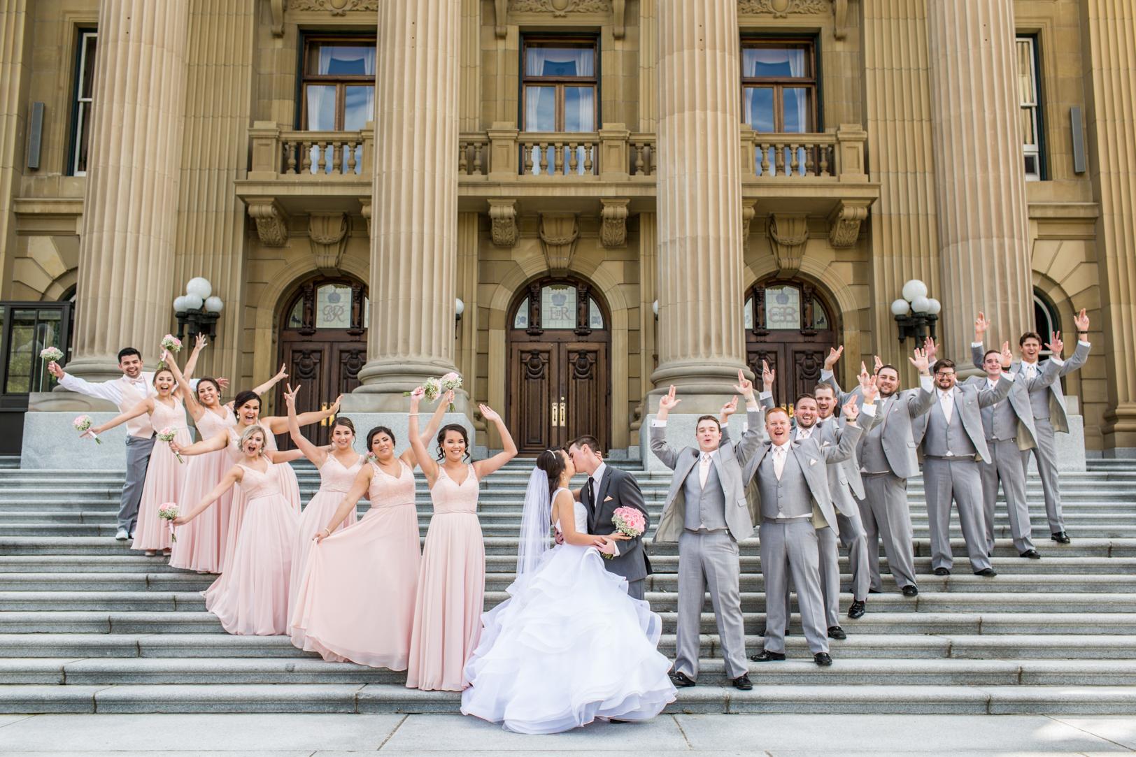 Wedding Photos at Alberta Legislature