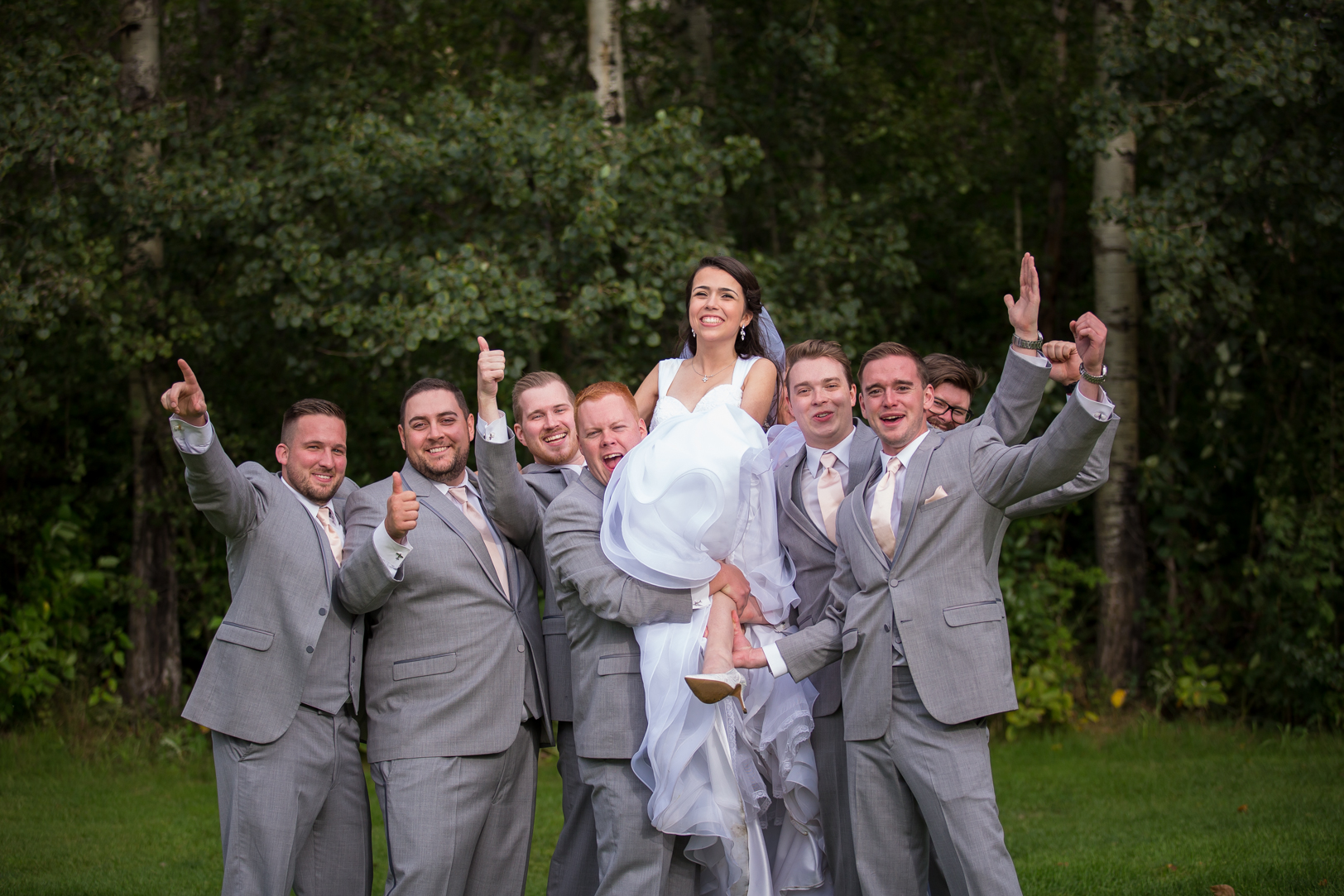 Bride and Groomsmen Photos
