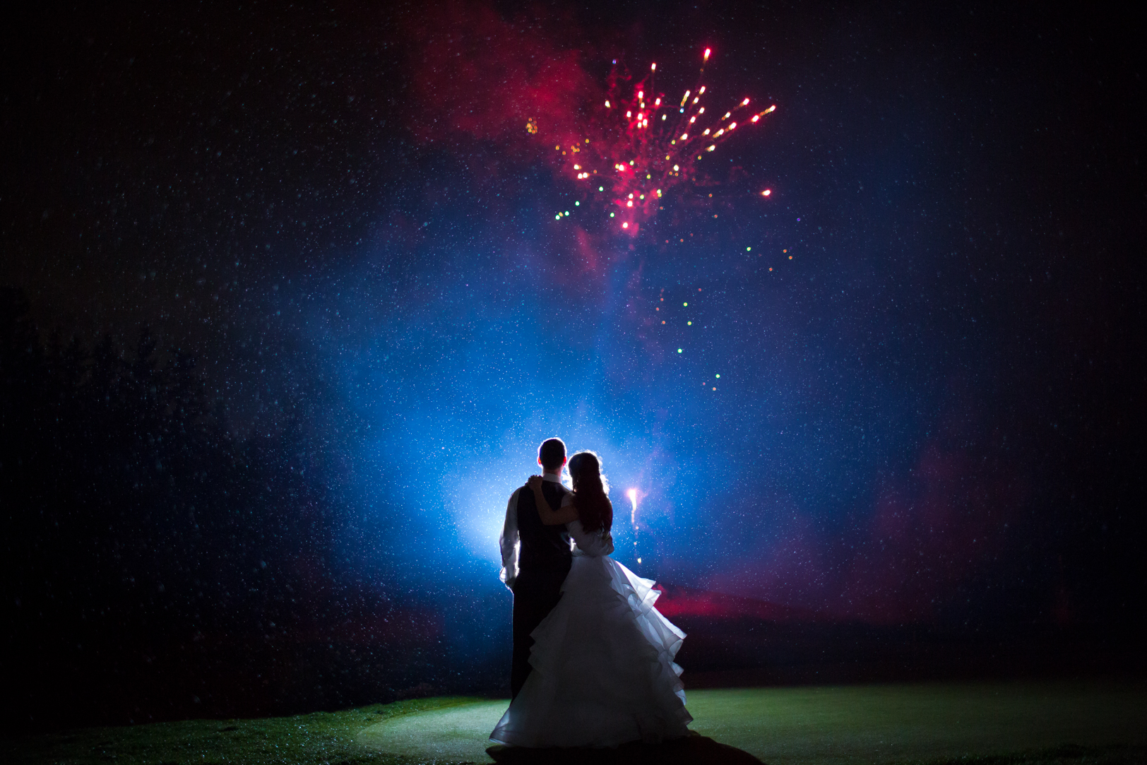 Fireworks Wedding Photos