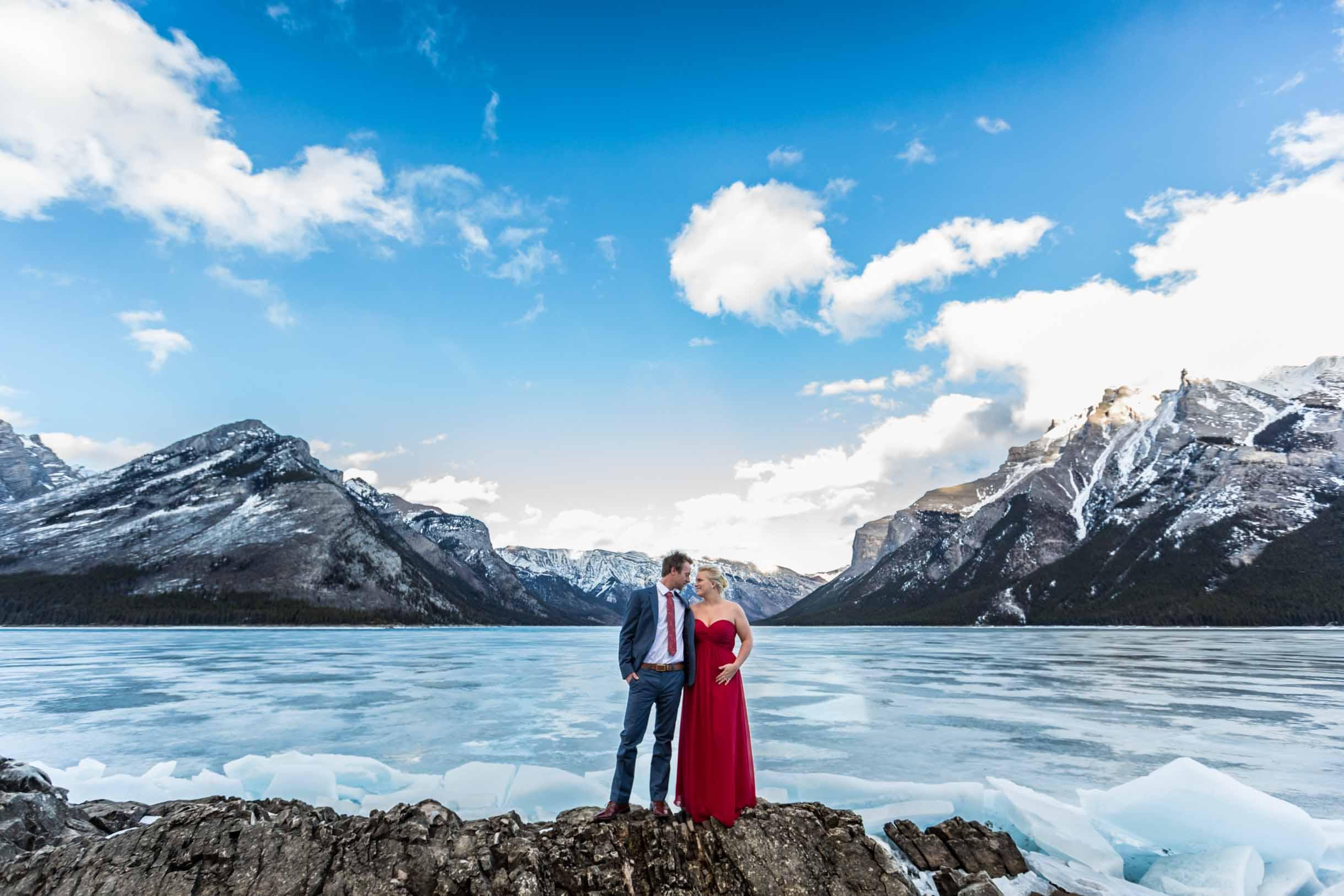 Engagement photographers Banff