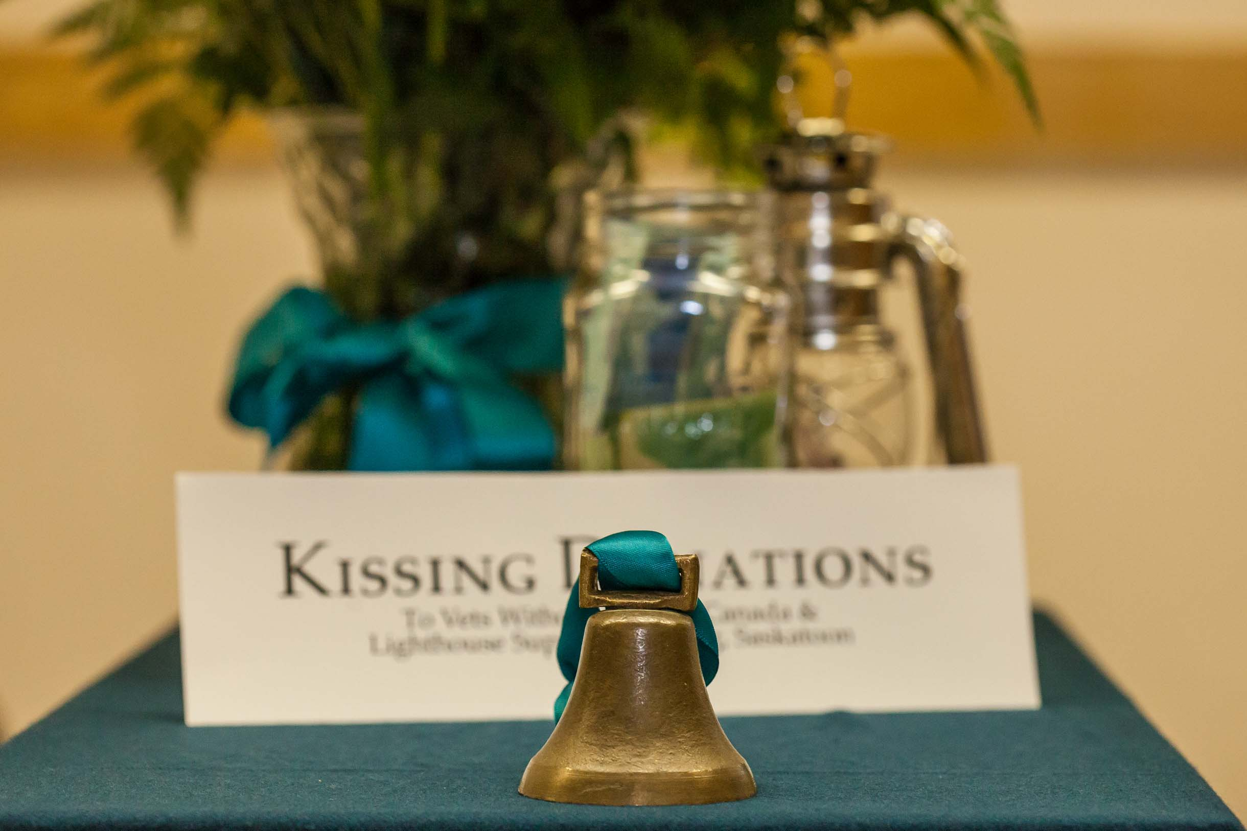 Kissing bell alternative to clicking glasses