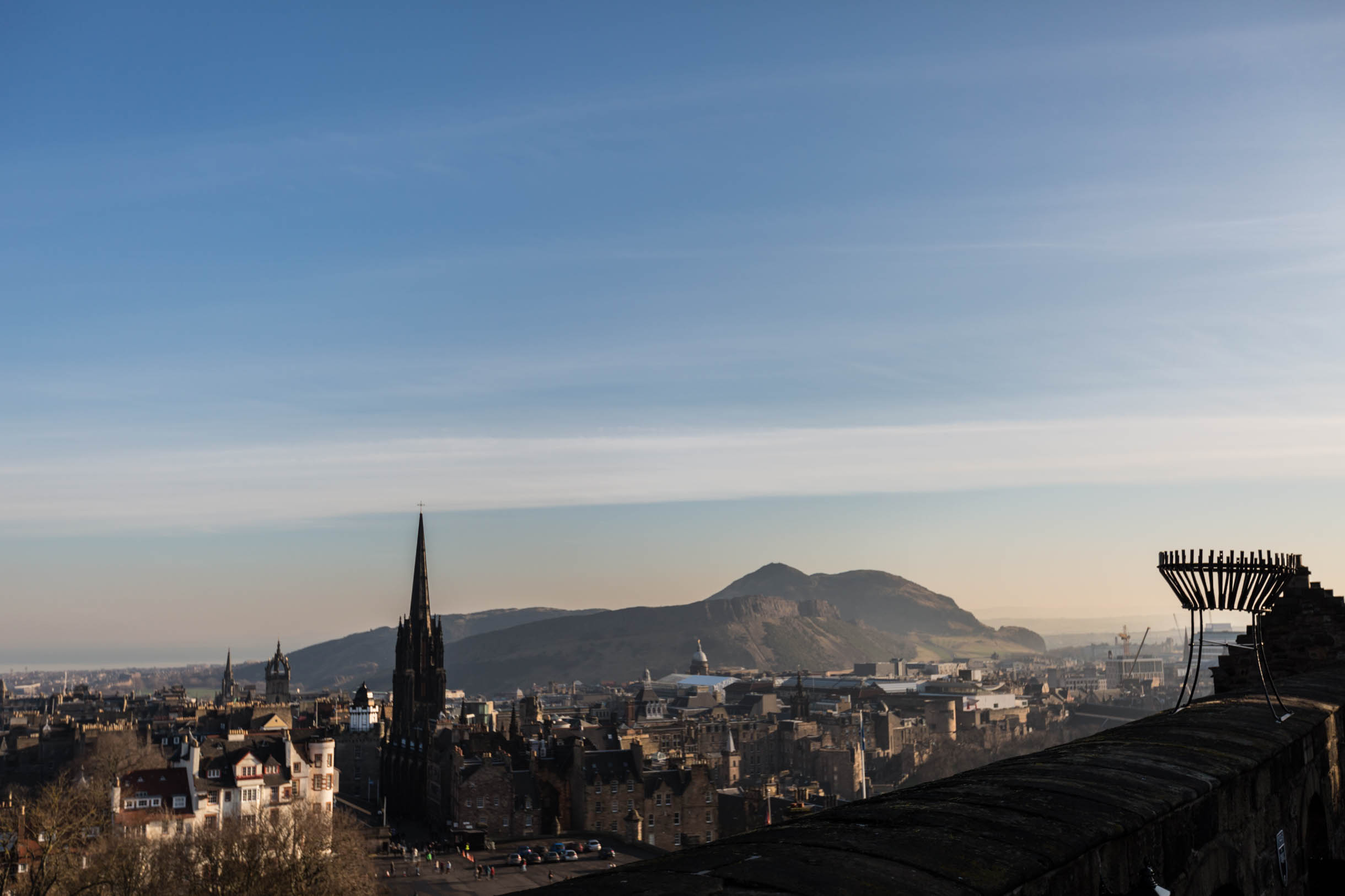 Picture Taken While Exploring Edinburgh - the view from edinburgh castle