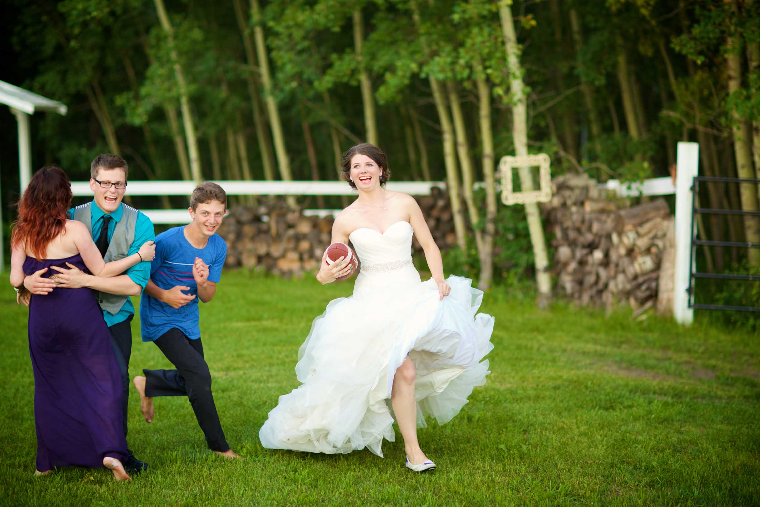 Wedding game ideas football