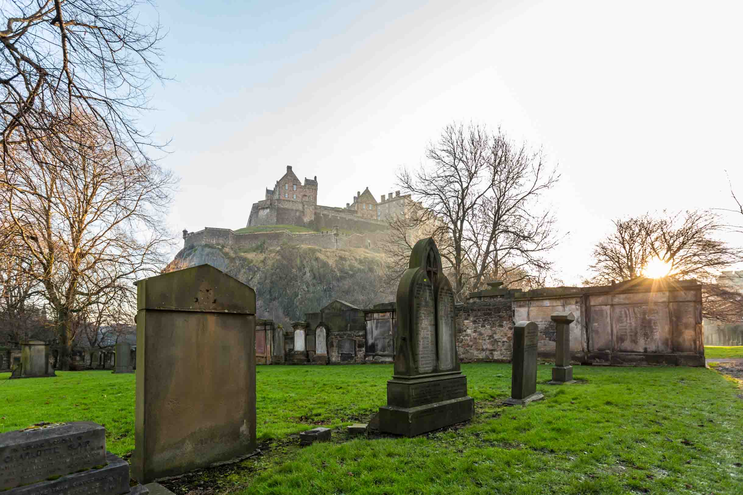 Picture Taken While Exploring Edinburgh - cemetery in Edinburgh