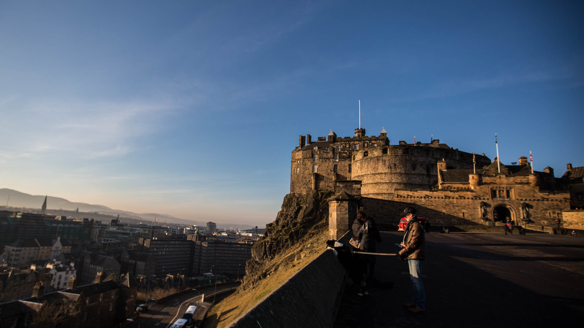 Picture Taken While Exploring Edinburgh - edinburgh castle at sunrise