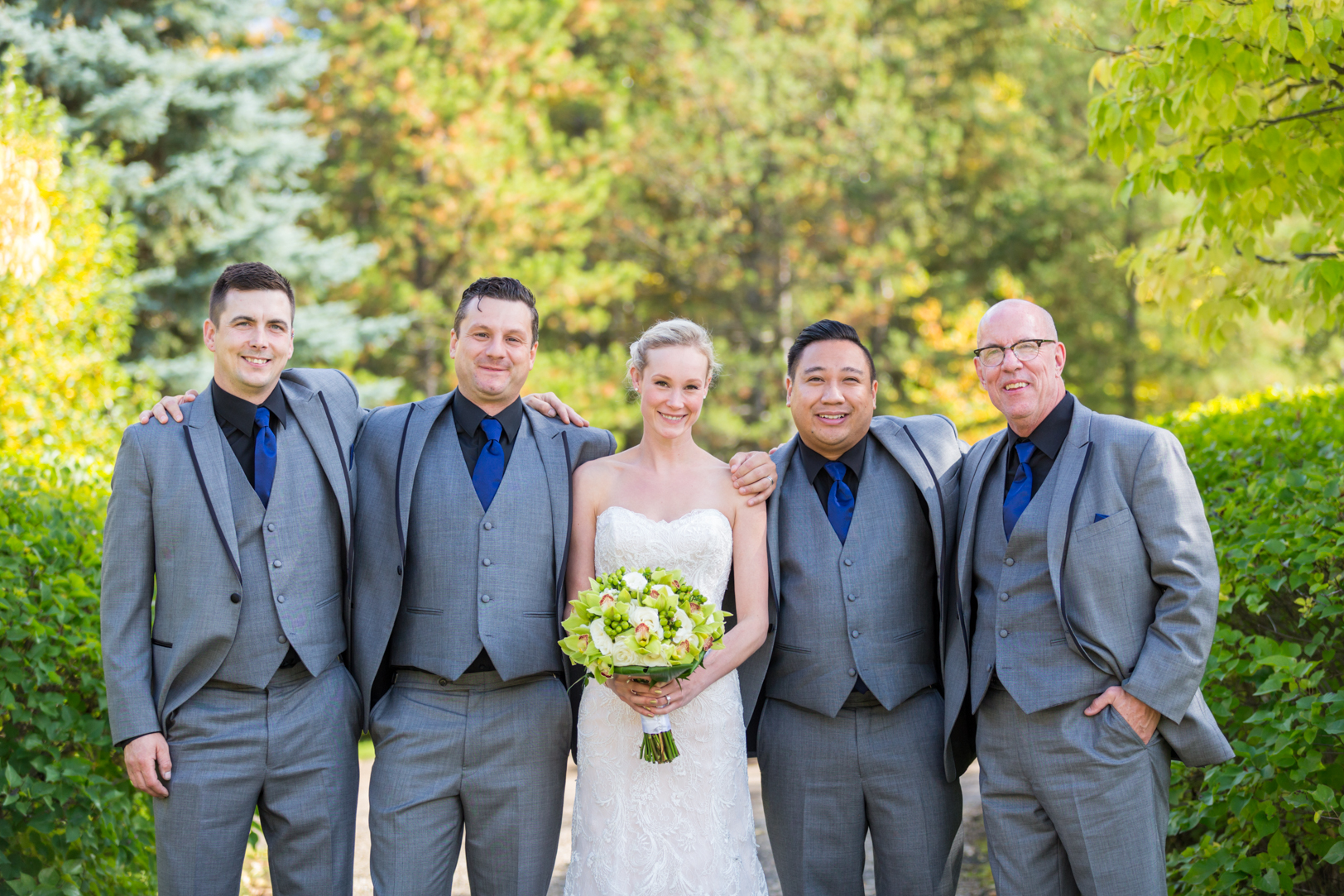 Devonian Botanic Gardens Wedding - Groomsmen