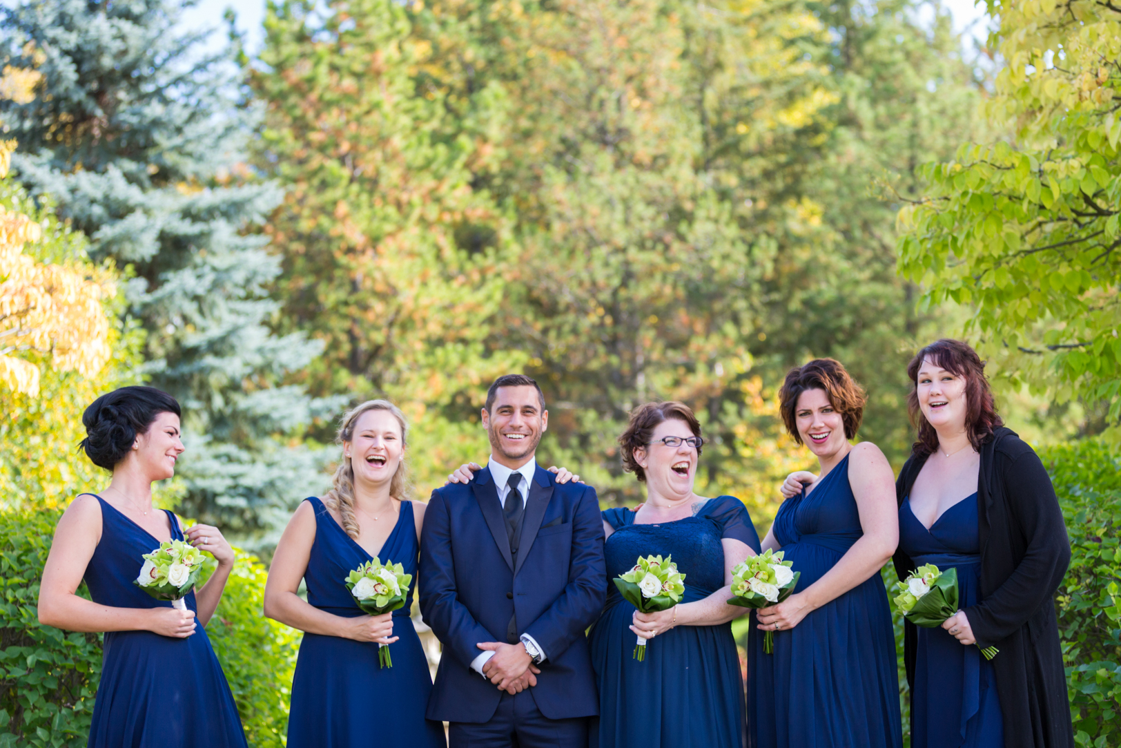 Devonian Botanic Gardens Wedding - Bridal Party Pictures