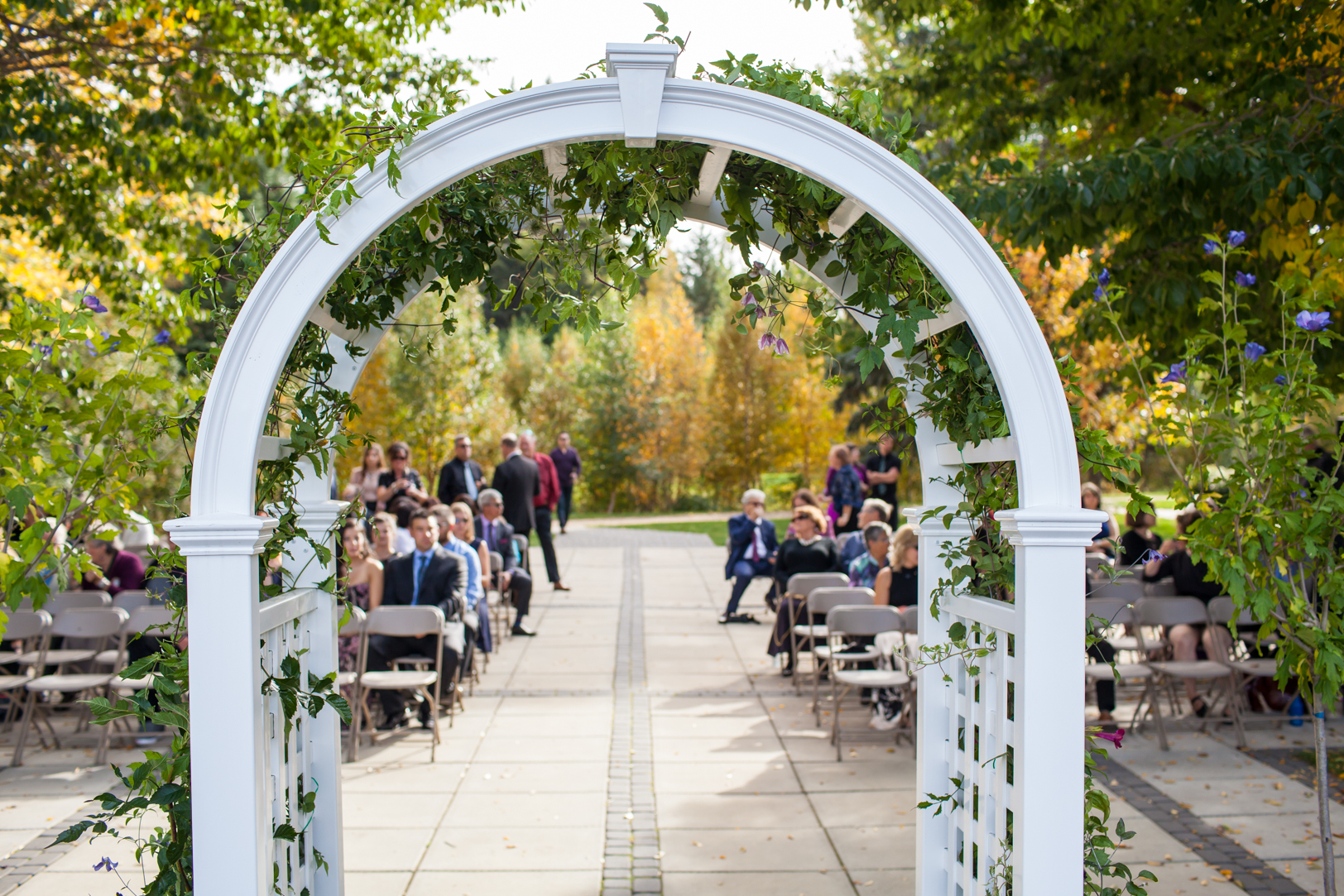 Wedding ceremony at University of Alberta Devonian Botanic Garden