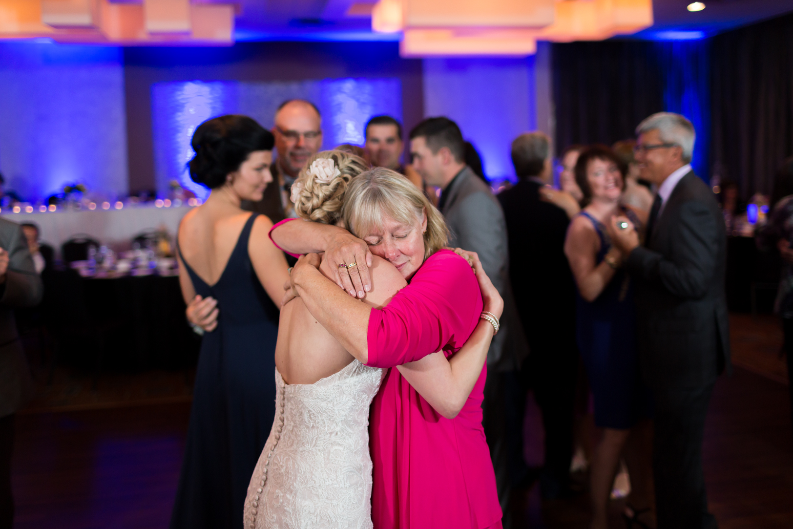 emotional wedding reception photos