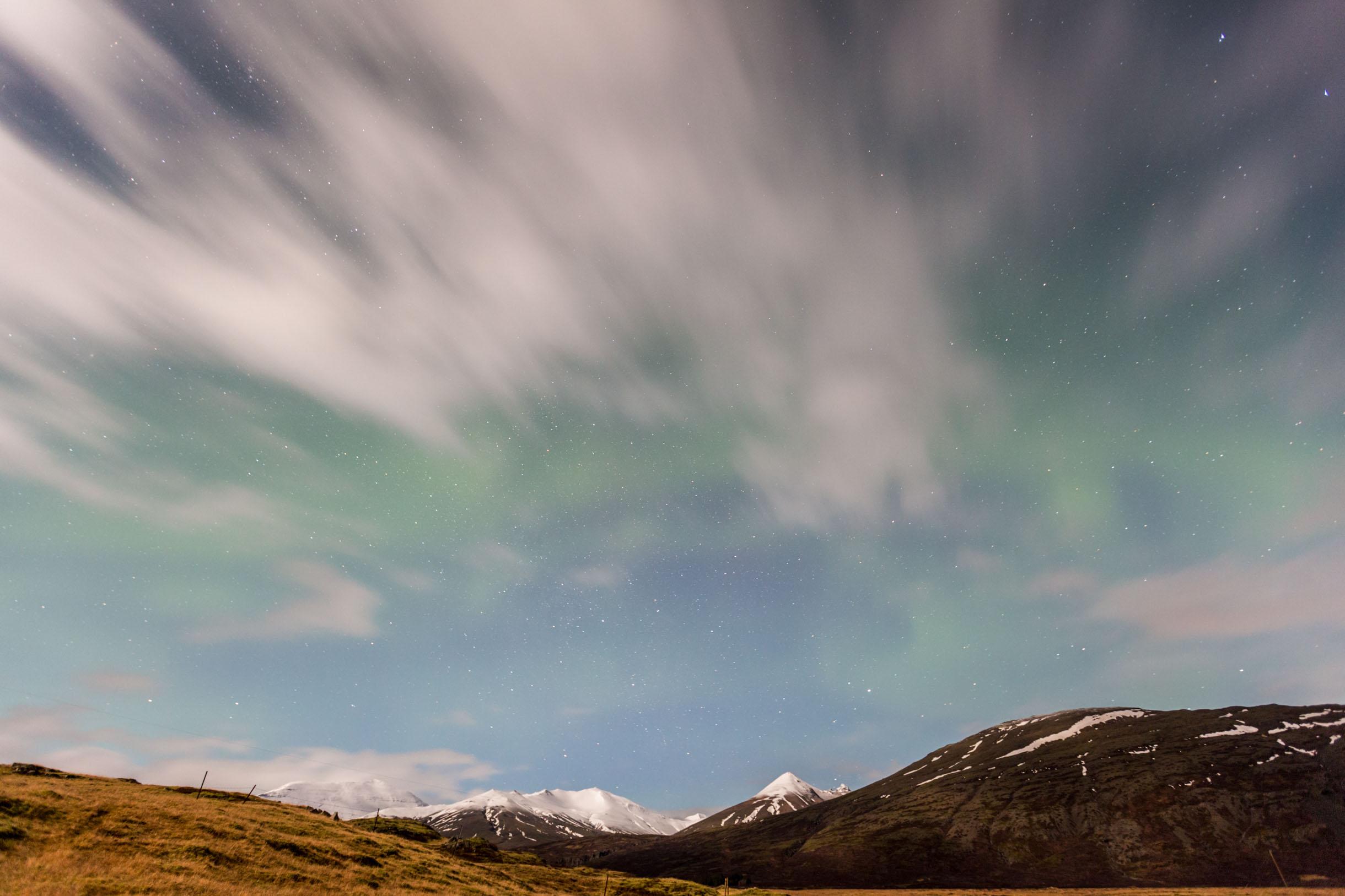 northern lights iceland hofn