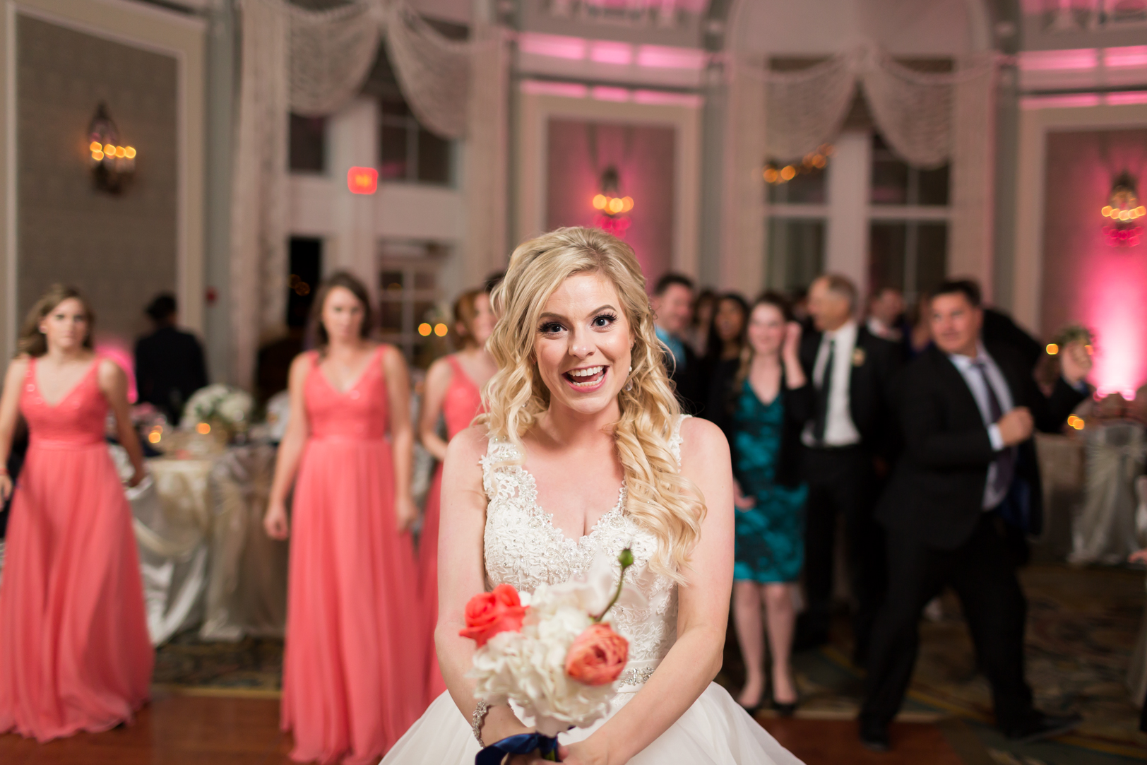 crazy bouquet toss photo