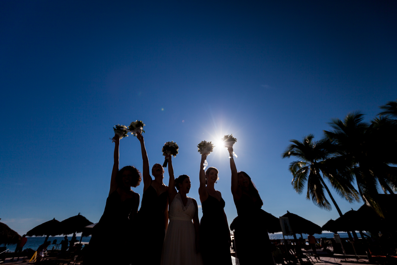Bridesmaids picture at a Sunscape Dorado Pacifico Ixtapa destination wedding