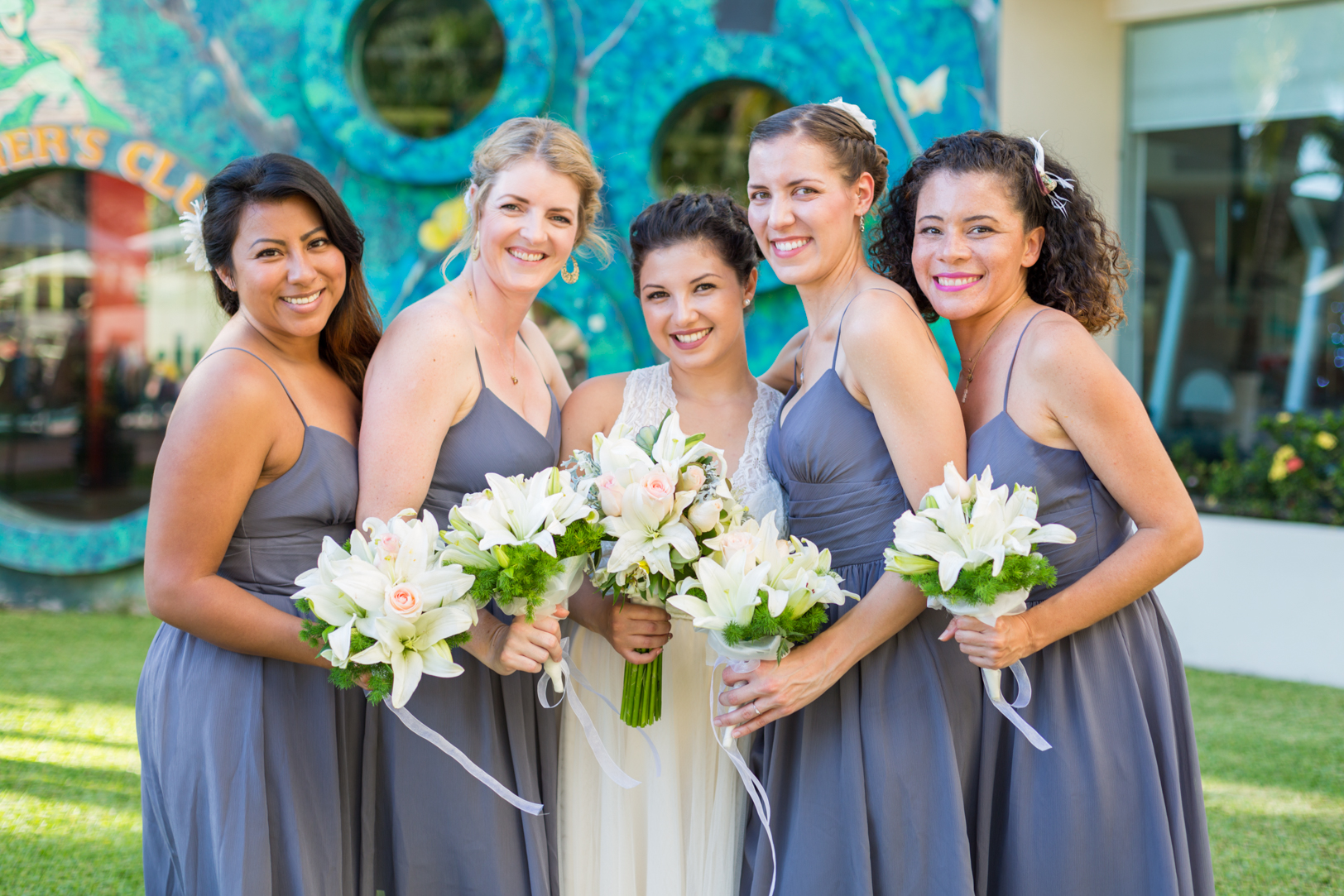 Picture of bridesmaids at the Sunscape Dorado Pacifico in Ixtapa at a destination wedding