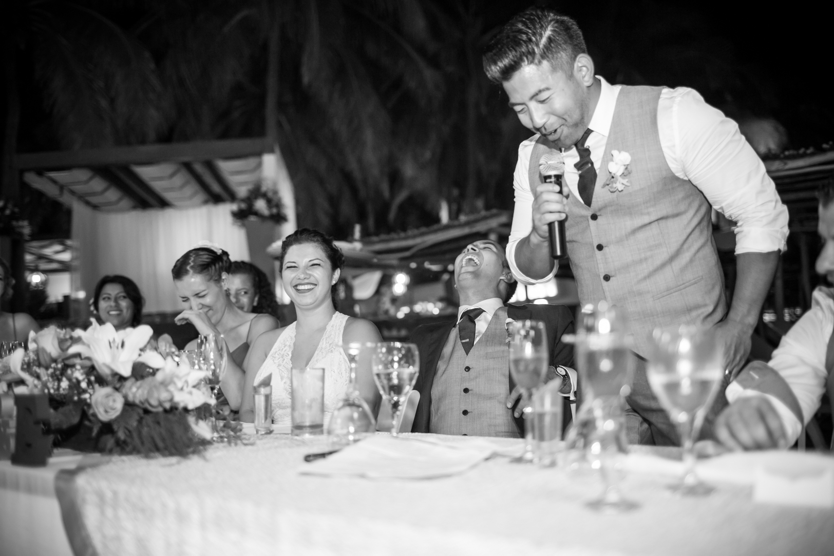 Best man speech at Sunscape Dorado Pacifico Ixtapa destination wedding
