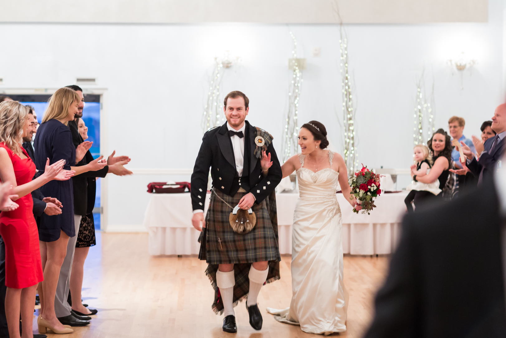 scottish wedding procession
