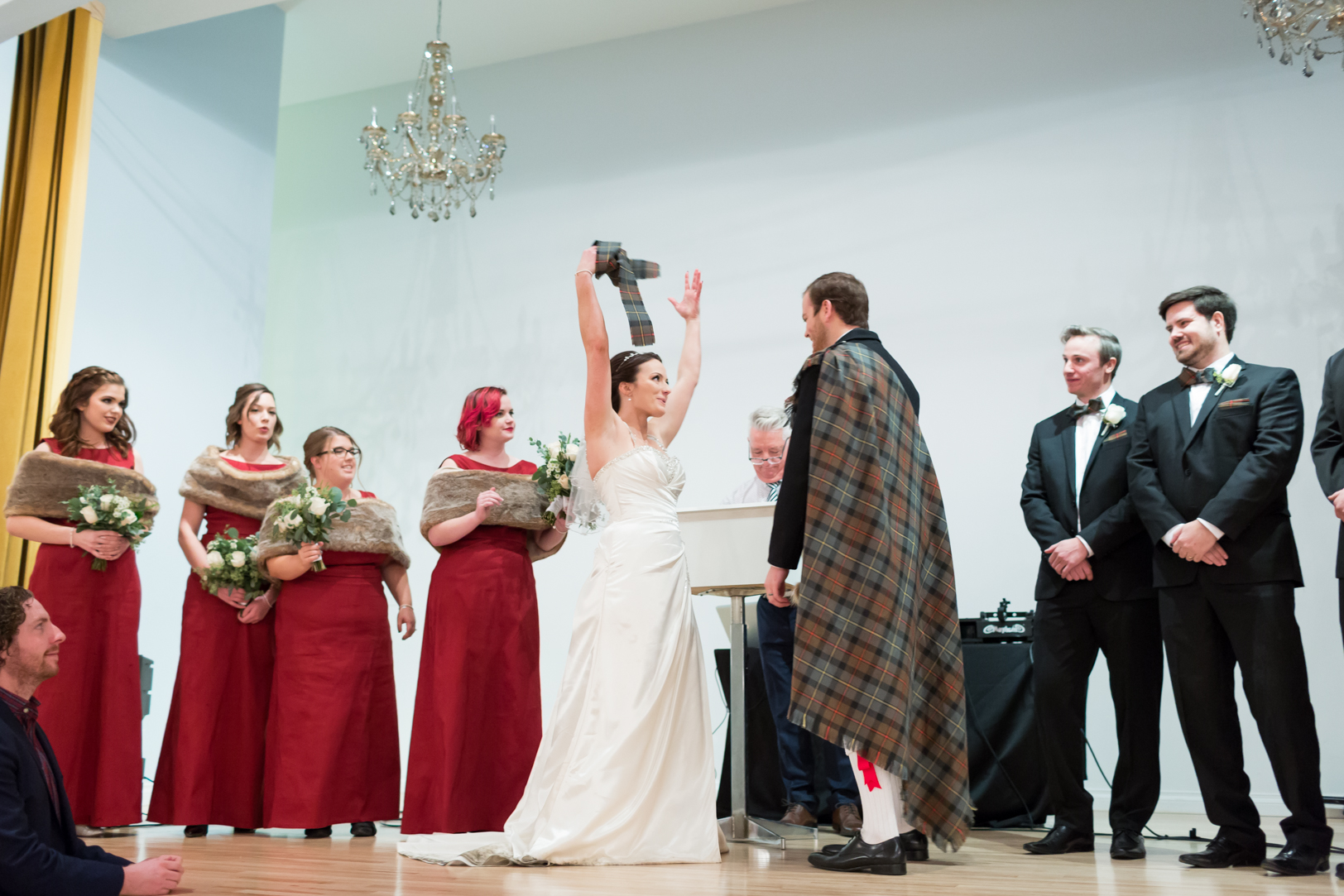 fun wedding ceremony photo