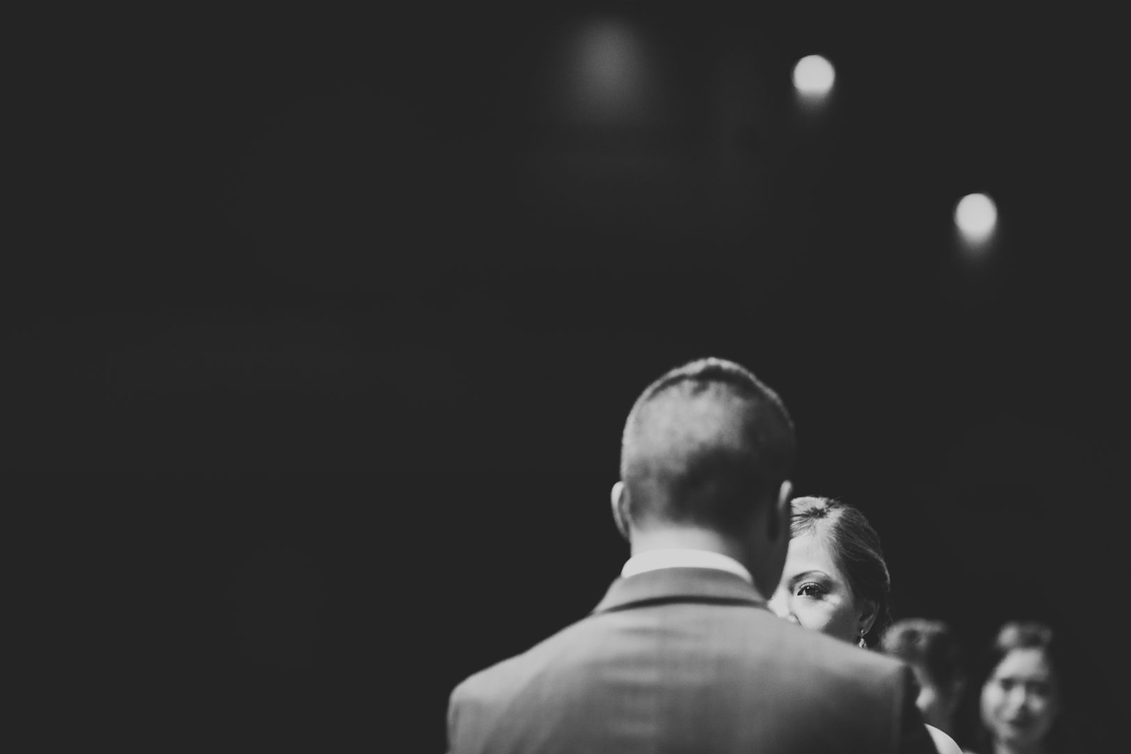 dramatic wedding ceremony photo