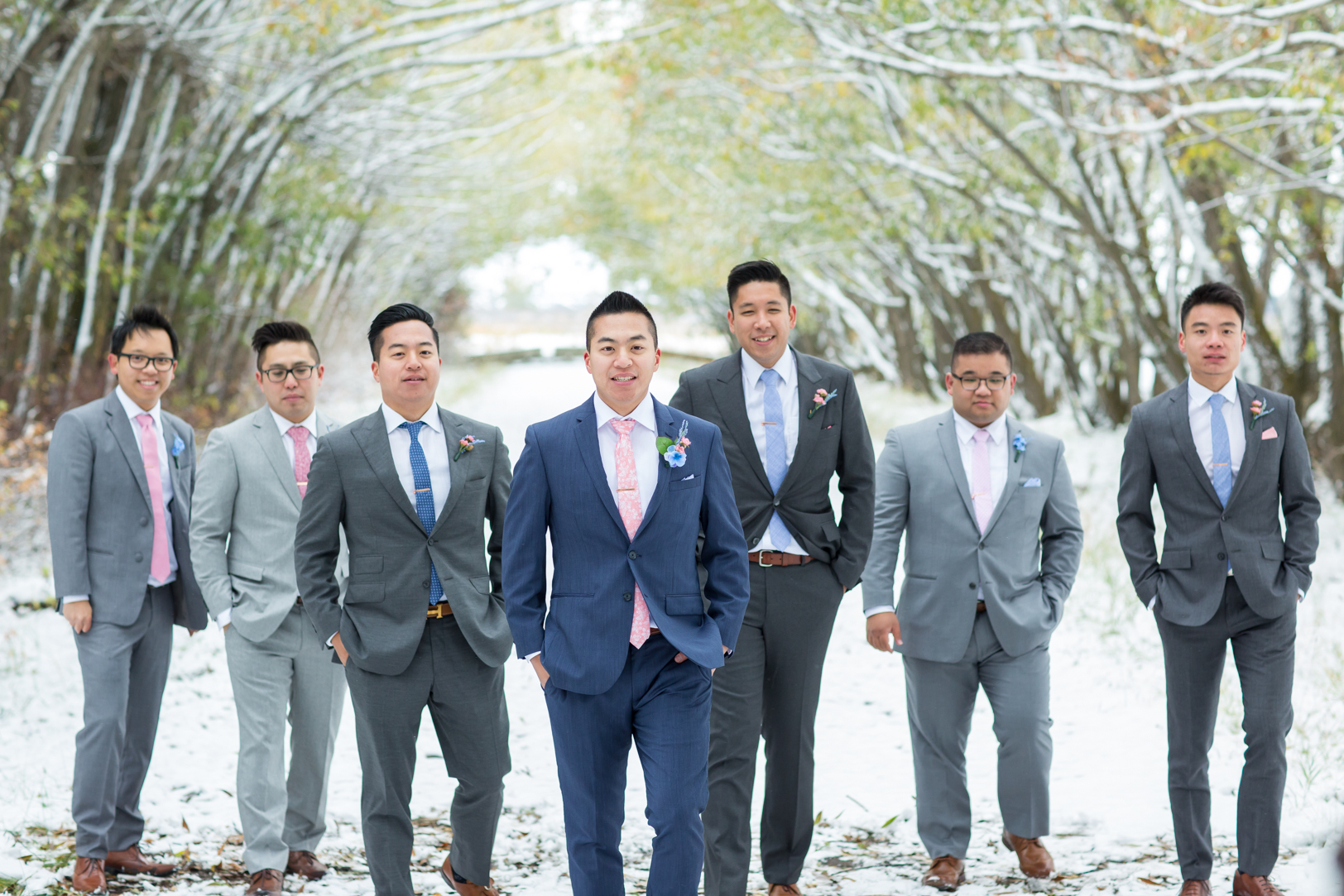 Groomsmen At An Edmonton Autumn Wedding