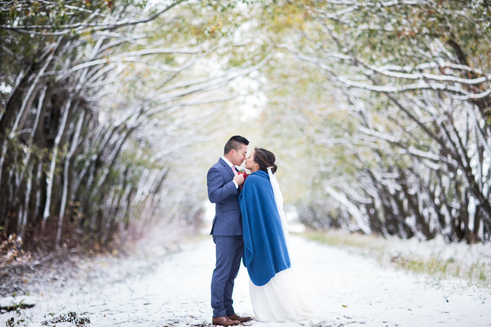 edmonton winter wedding photos