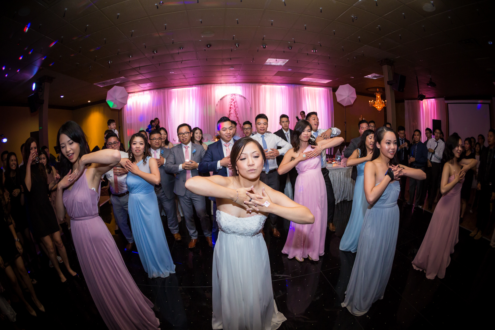 wedding party choreographed dance