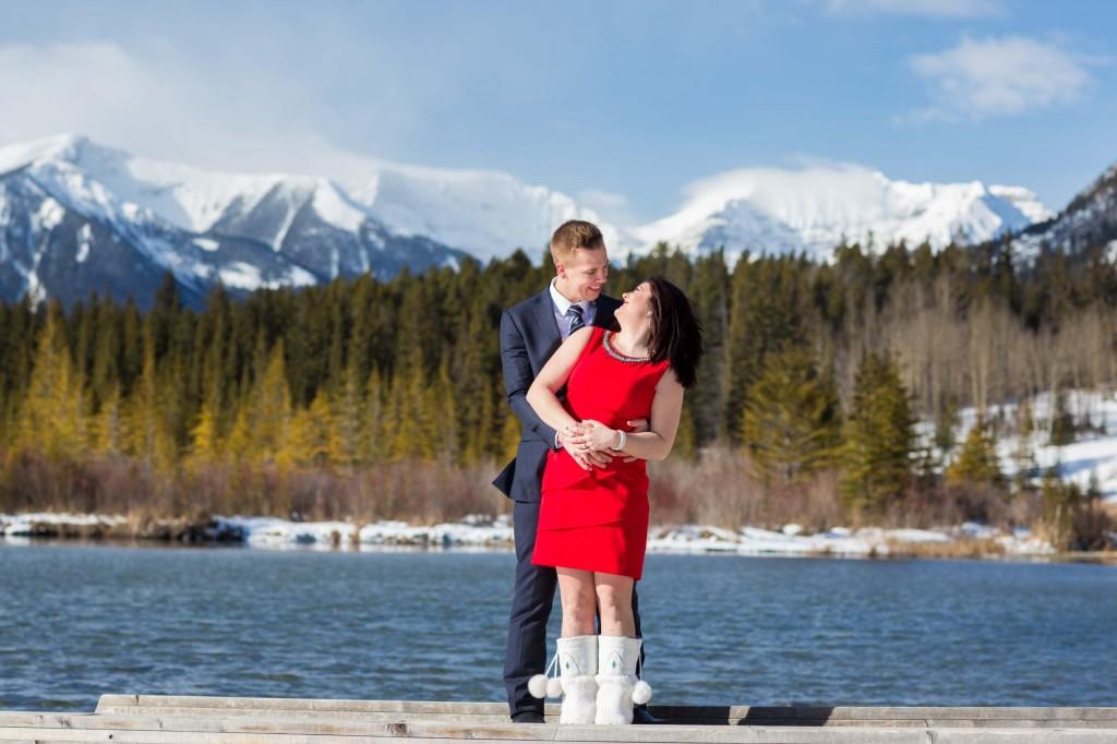 Vermillion lakes banff winter