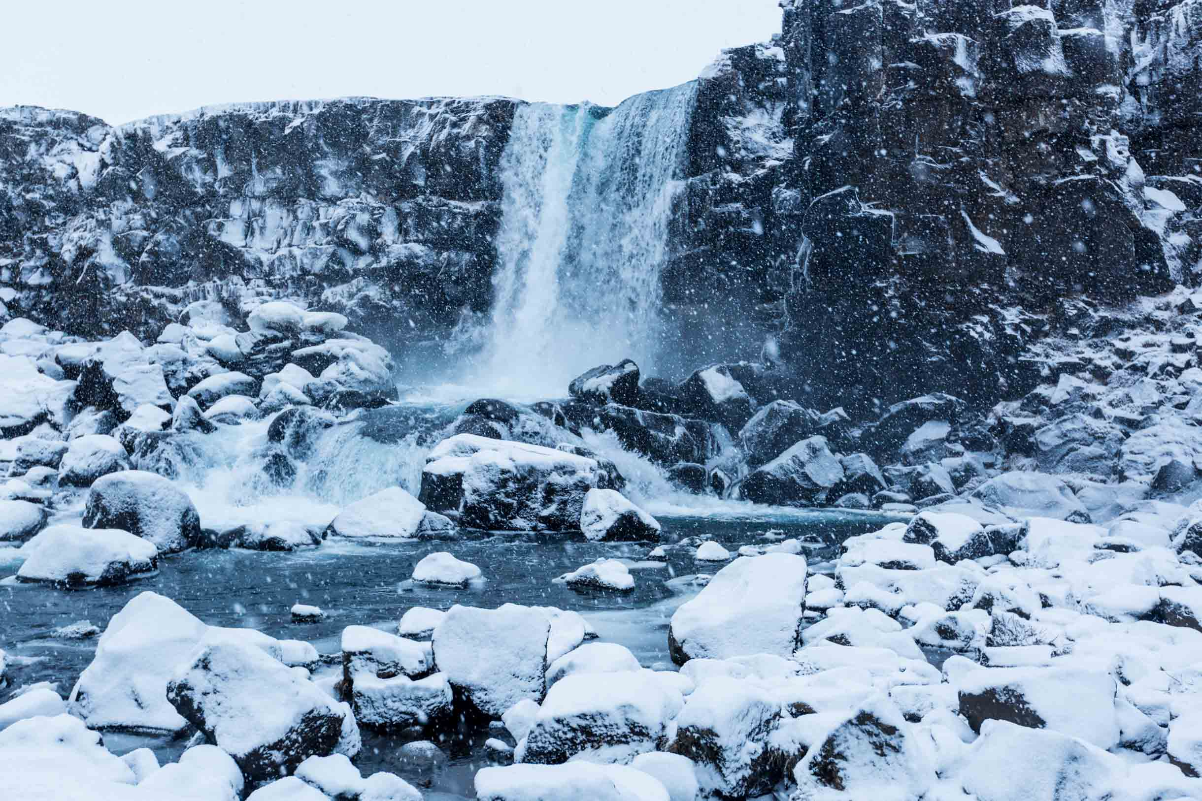 oxarafoss waterfall Thingvellir National Park