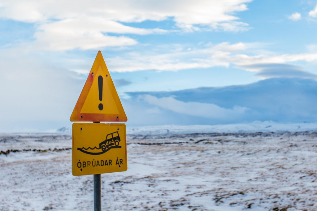 renting a car in iceland consider f road sign iceland