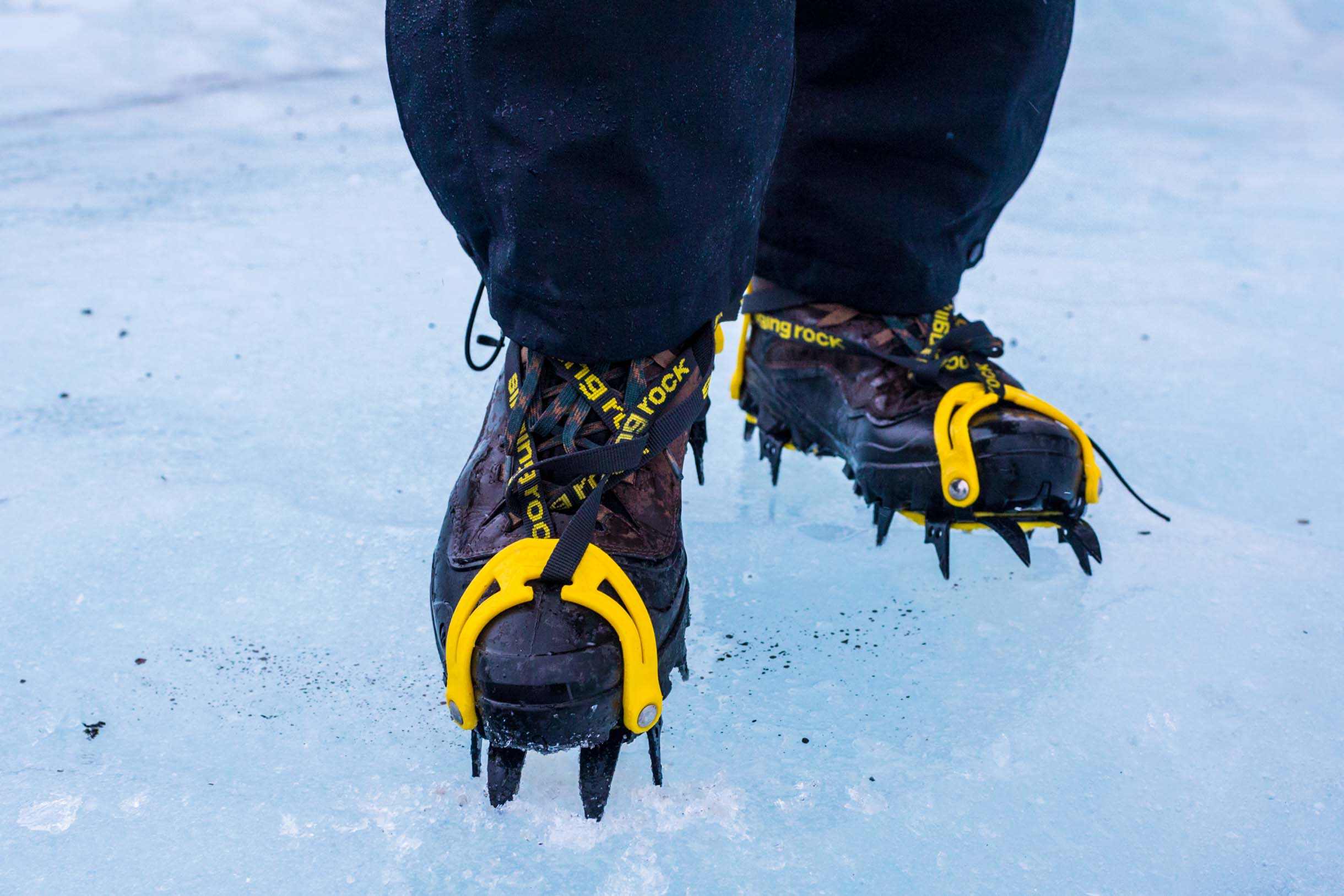 A Picture Of A Crampon For What To Wear In Iceland During Winter