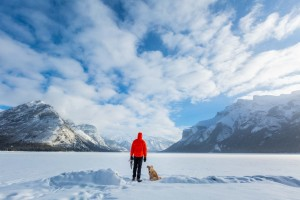 lake minnewanka winter