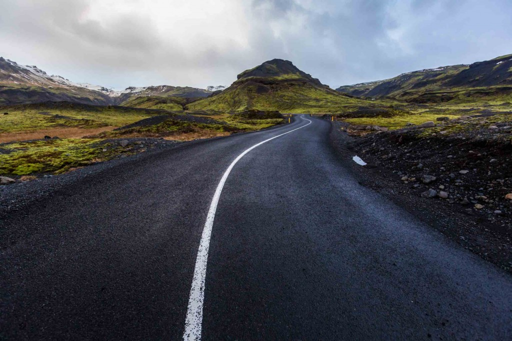 iceland road in winter