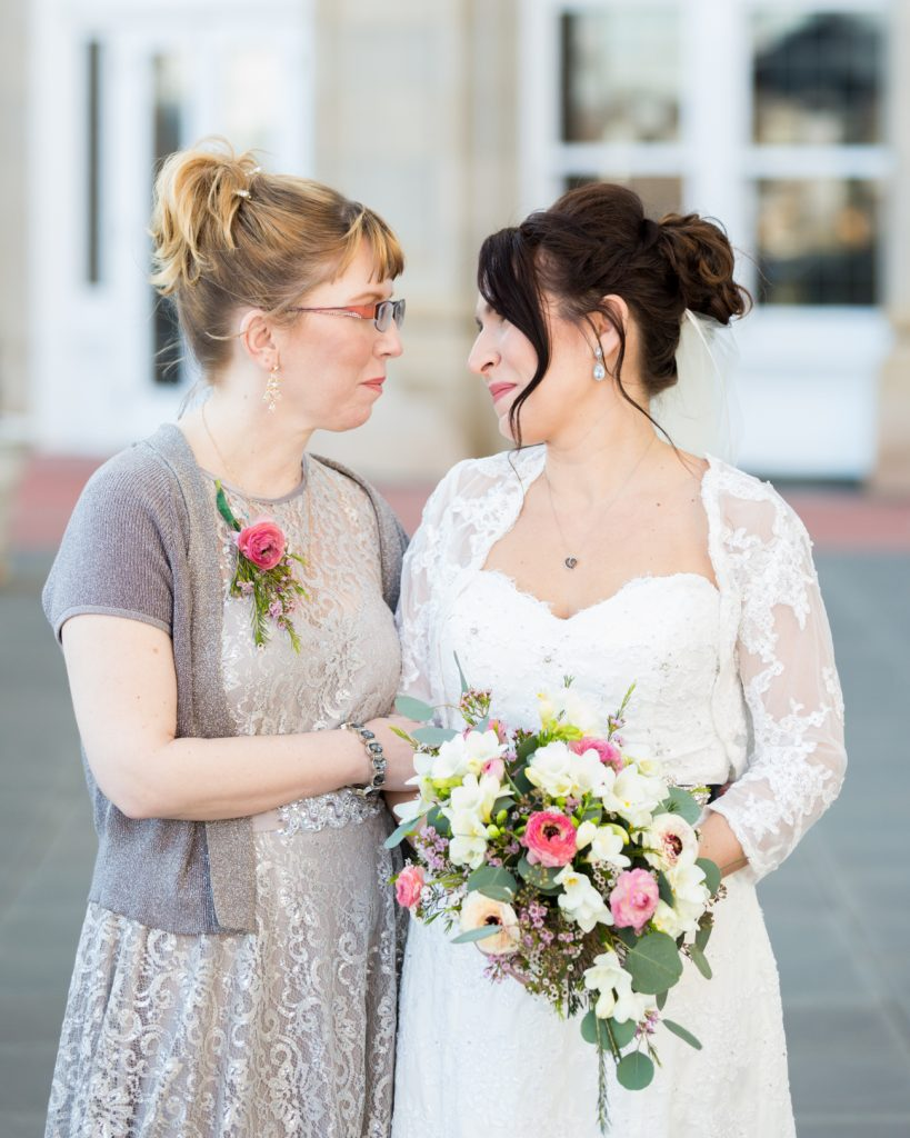 Portrait of bride and her sister