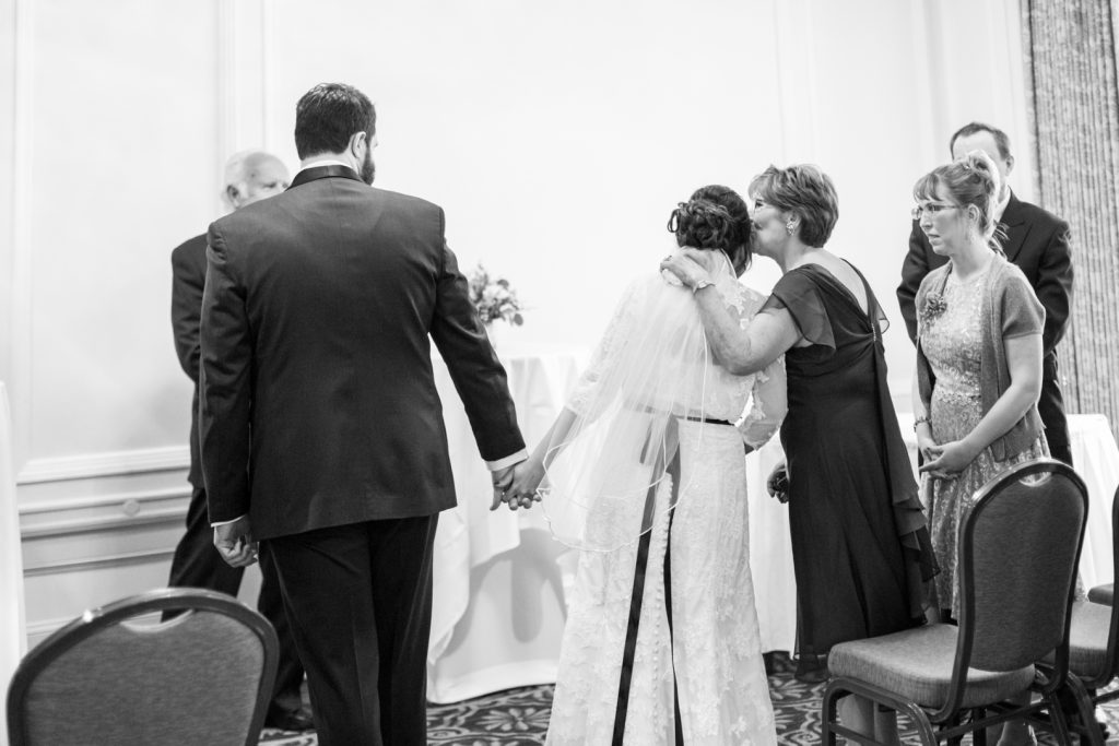 Fairmont Hotel Macdonald wedding ceremony