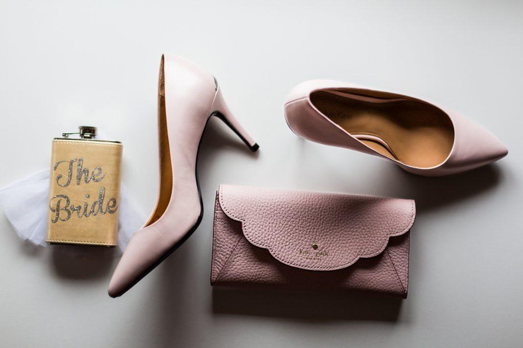 Blush pink bridal details