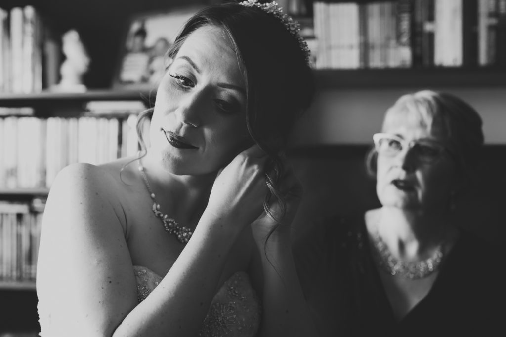 Bride and her mother before ceremony