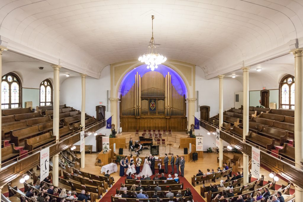 McDougall United Church wedding ceremony
