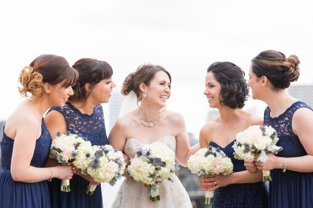 Bridesmaids wedding portraits