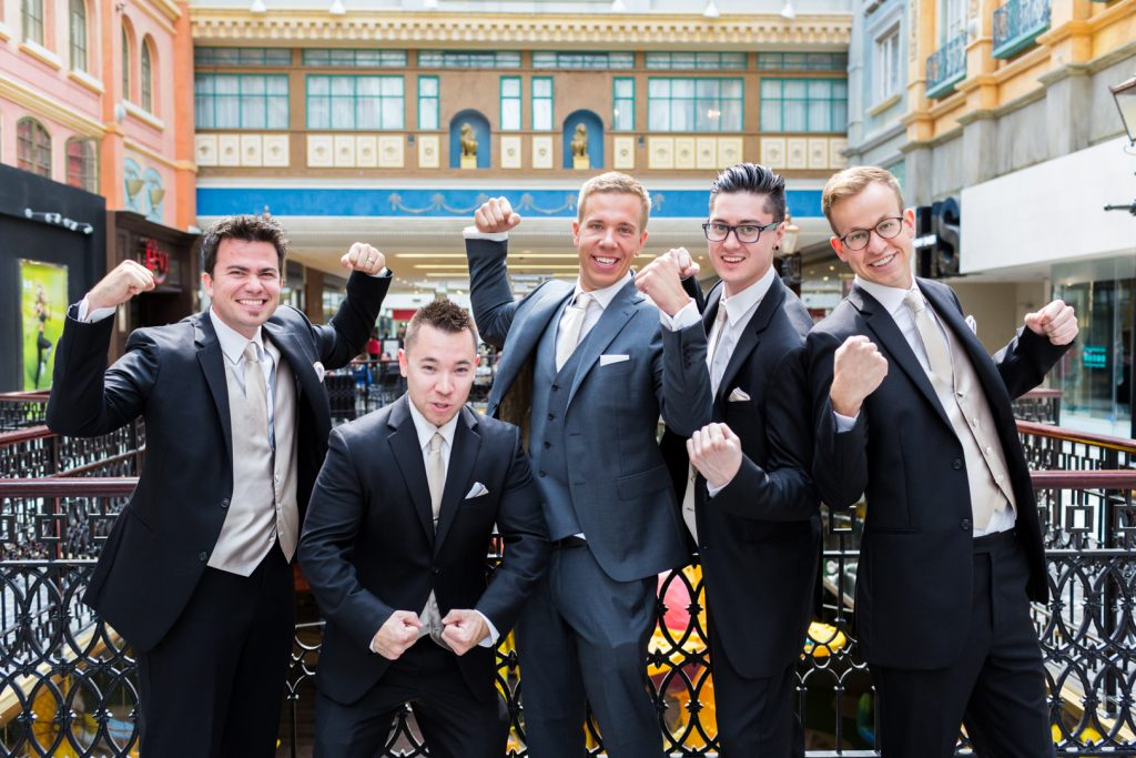 Groomsmen portrait west edmonton mall