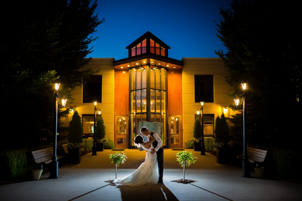 oasis centre wedding photos at night