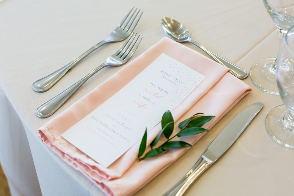 Blush and green wedding decor