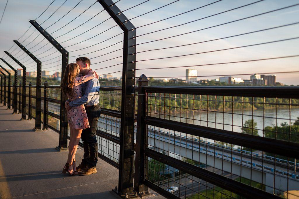 edmonton high level bridge engagement photos